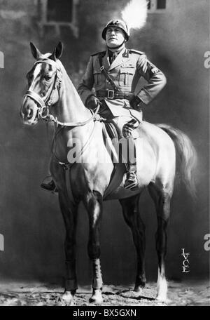 Mussolini, Benito, 29.7.1883 - 28.4.1945, italienischer Politiker (PNF), Premierminister von Italien 1922 - 1943, - Stockfoto