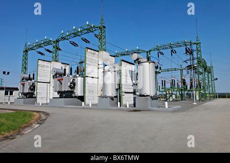 Umspannwerk, E.ON Vertriebsgesellschaft, Strom - Stockfoto