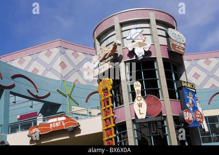 Historischen Neon Schilder in der Neonopolis Mall auf der Fremont Street, Las Vegas, Nevada, Vereinigte Staaten - Stockfoto