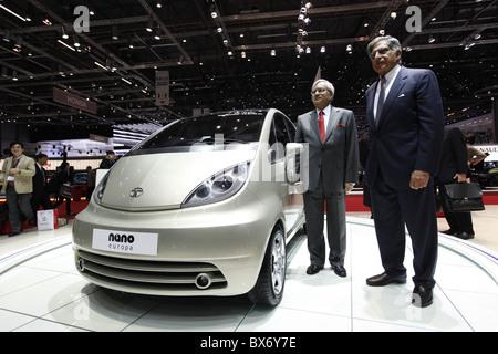 Ratan N. Tata, Ravi Kant, Tata Nano, Auto - Stockfoto