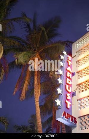 Art-Deco-Gebäude in Miami Beach, Florida, Vereinigte Staaten von Amerika, Nordamerika - Stockfoto