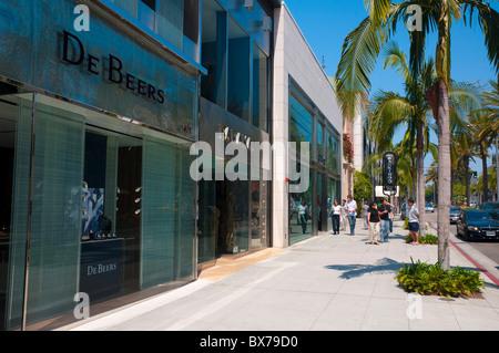 Rodeo Drive, Beverly Hills, Los Angeles, California, Vereinigte Staaten von Amerika, Nordamerika - Stockfoto