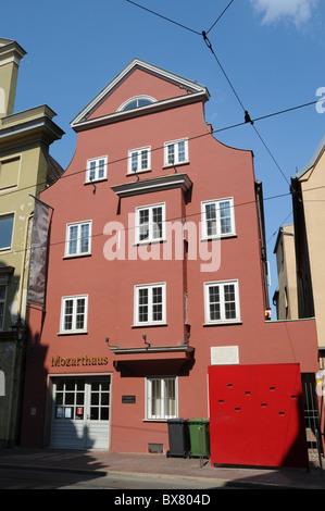 Das Haus für Mozart in Augsburg - Stockfoto