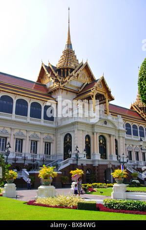 Chakri Maha Prasat Hall, Grand Palace, Rattanakosin Island, Phra Nakhon Bezirk, Bangkok, Thailand - Stockfoto
