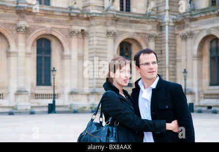 Paar im Louvre Paris - Stockfoto