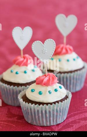 Valentine cupcakes - Stockfoto