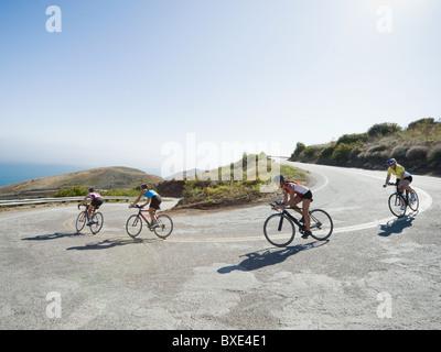 Radfahrer-Straße Reiten in Malibu - Stockfoto