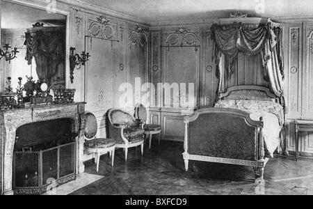 Geographie/reisen, Frankreich, Versailles, Palast, Petit Trianon, Innenansicht, Schlafzimmer der Königin Marie Antoinette, - Stockfoto