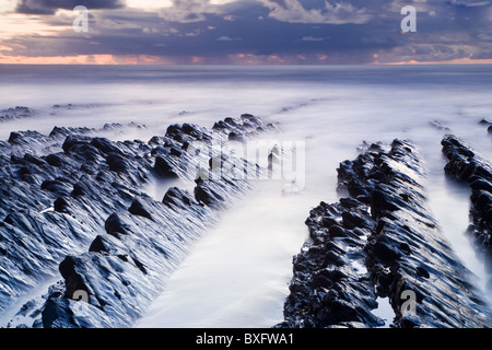 Welcombe Mund, Devon, UK - Stockfoto