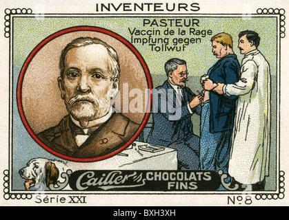 Pasteur, Louis, 27.12.1822 - 28.9.1895, französischer Wissenschaftler (Chemiker) und Mediziner/Arzt, Porträt, Erfinder - Stockfoto