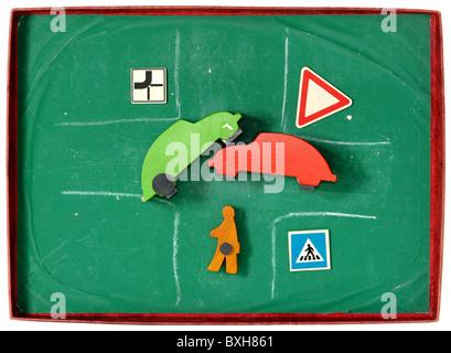 Verkehr / Transport, Autofahrschule, Autounfall, illustriert ...