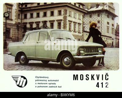 Verkehr/Transport, Auto, Fahrzeug Varianten, Moskvitch 412, Union der Sozialistischen Sowjetrepubliken, UDSSR, Tschechoslowakei, - Stockfoto