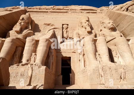 Abu Simbel, Ägypten - der große Tempel 3 - Stockfoto