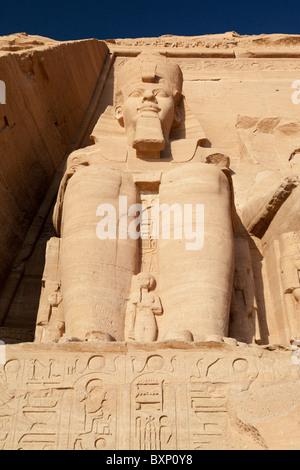 Abu Simbel, Ägypten - der große Tempel 14 - Stockfoto