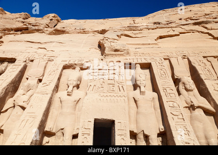 Abu Simbel, Ägypten - Hathor Tempel 4 - Stockfoto