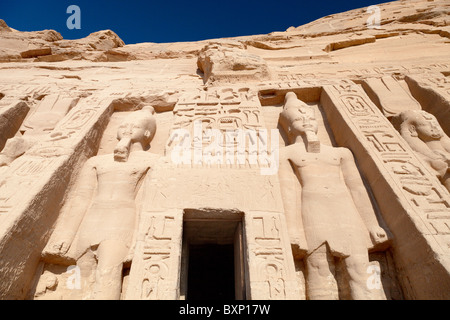 Abu Simbel, Ägypten - Hathor Tempel 5 - Stockfoto
