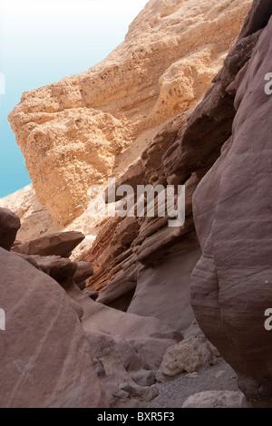 Red Canyon im Süden Israels Negev-Wüste. - Stockfoto