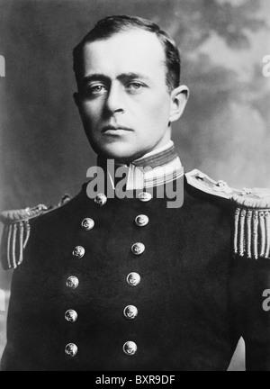 Vintage Porträtfoto der britischen Royal Navy Officer und Polarforscher Kapitän Robert Falcon Scott (1868-1912). - Stockfoto