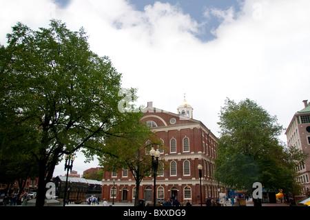 Faneuil Hall in der Stadt Boston, Hauptstadt von Massachusetts in Neuengland USA - Stockfoto