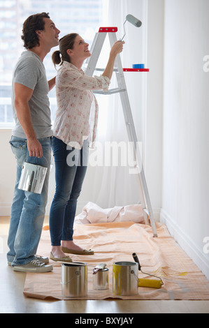 Paar Gemälde Wände - Stockfoto