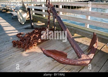 Die Mayflower 2 Nachbau des Schiffes, die die Pilgerväter auf im Hafen von Plymouth Massachusetts USA gesegelt - Stockfoto