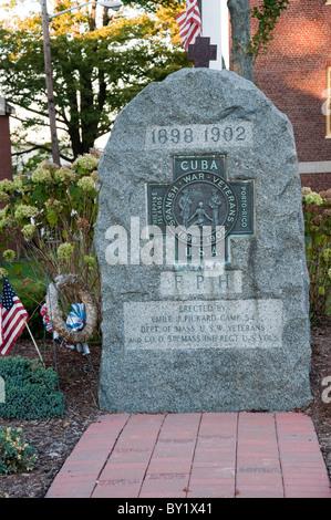 Denkmal für die USA Kuba Krieg Plymouth ist eine Stadt in Massachusetts, USA. - Stockfoto