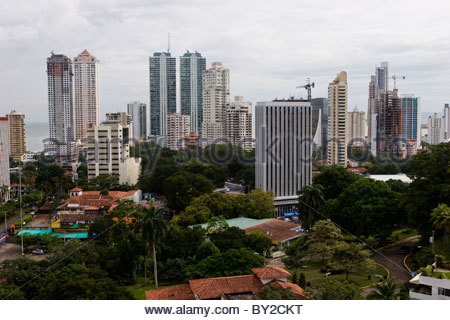 Die Skyline in Panama City, Panama. - Stockfoto