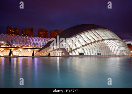 Stadt der Künste und Wissenschaften. Valencia, Spanien - Stockfoto