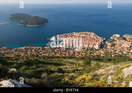Elk192-3137 Kroatien, Adria, Dubrovnik, vom Hügel über - Stockfoto