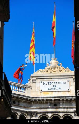 Das Museo de Cera de Barcelona (Barcelona Wachsfigurenkabinett), Barcelona, Spanien. - Stockfoto