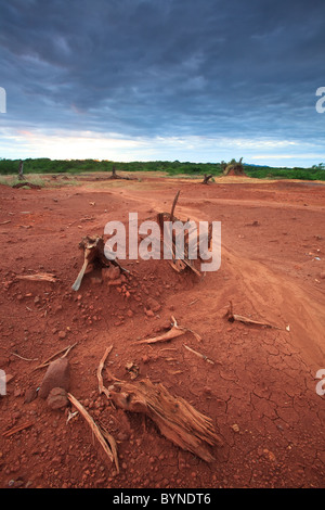 Erodierten Boden Sarigua Nationalpark (Wüste), Herrera Provinz, Republik von Panama. - Stockfoto