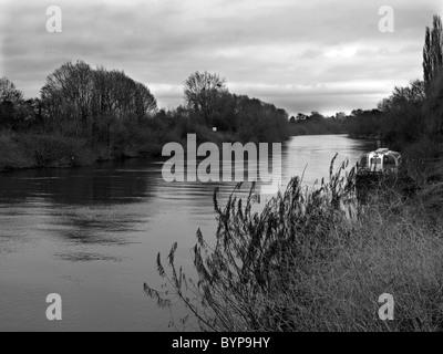 Fluß Severn in Upton auf Severn Worcestershire Vereinigtes Königreich - Stockfoto