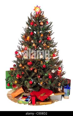wei e weihnachten geschenke und dekorationen geschenke und s e ingwer stockfoto bild. Black Bedroom Furniture Sets. Home Design Ideas