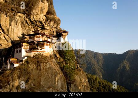 Taktsang Kloster, 3120 m, auch bekannt als Tiger Nest, Paro, Bhutan-Königreich Bhutan, Südasien