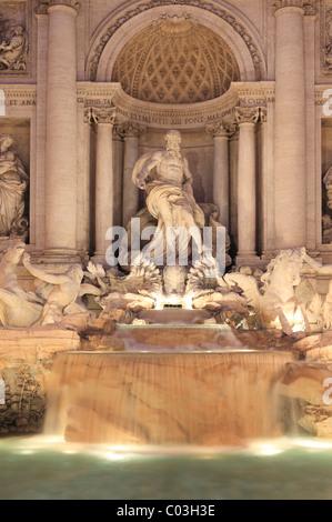 Trevi-Brunnen, Fontana di Trevi, Rom, Italien, Europa - Stockfoto