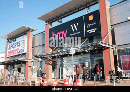 HMV und Waterstone es store - Stockfoto