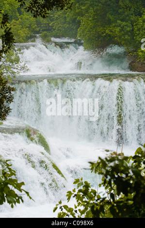 Wasserfälle, Nationalpark Krka, Sibenik-Knin County, Kroatien, Europa - Stockfoto