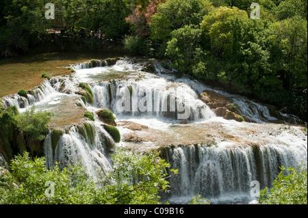 Wasserfälle im Nationalpark Krka, Aeibenik-Knin County, Kroatien, Europa - Stockfoto