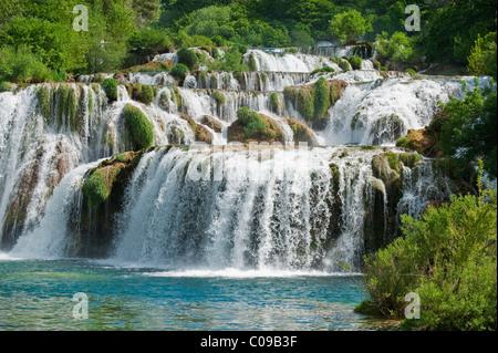Wasserfälle, Nationalpark Krka, Region Sibenik-Knin, Kroatien, Europa - Stockfoto