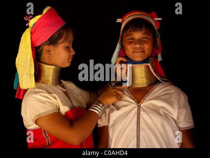 Langhals-Frauen in Thailand