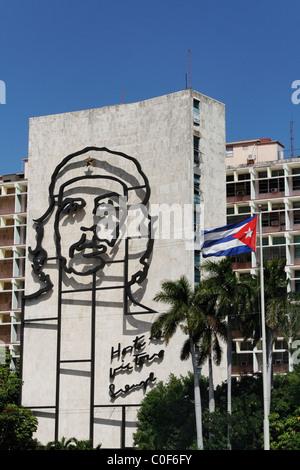 Placa De La Revolucion Square, Che Guevara, Havanna, Kuba, Caribbean - Stockfoto