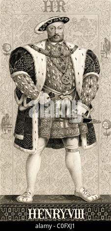 Heinrich VIII., 1491-1547. König von England und Irland. Illustrationen von englischen und schottischen Geschichte - Stockfoto