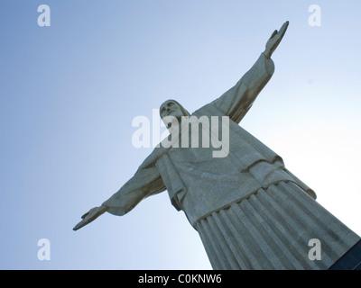 Corcovado Statue von Christus dem Erlöser in Rio De Janeiro, Brasilien - Stockfoto