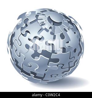 Jigsaw Puzzle Kugel - Stockfoto