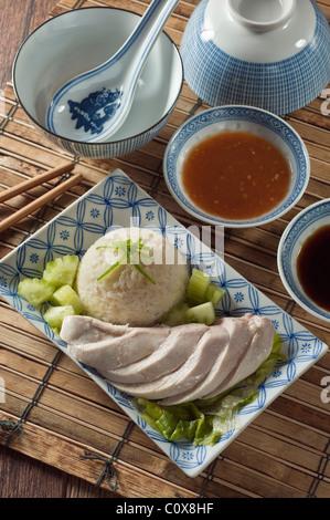 Singapur Malaysia Food-Huhn mit Reis - Stockfoto