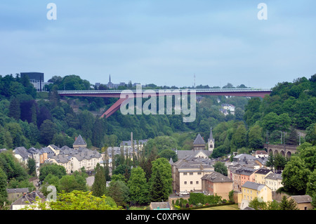 Die Großherzogin Charlotte Brücke, Stadt Luxemburg, Luxemburg - Stockfoto
