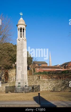 Das Mayflower Memorial, Stadtkai, Southampton, Hampshire, England, Vereinigtes Königreich, Europa - Stockfoto