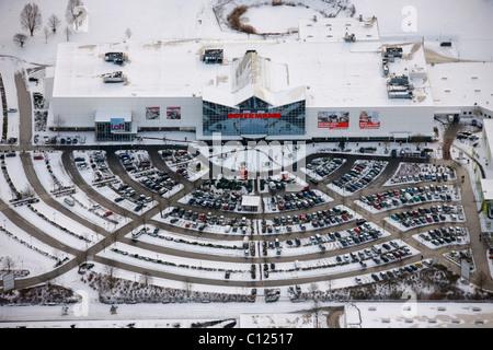 Luftaufnahme Möbelhaus Ostermann Parkplatz Schnee Witten
