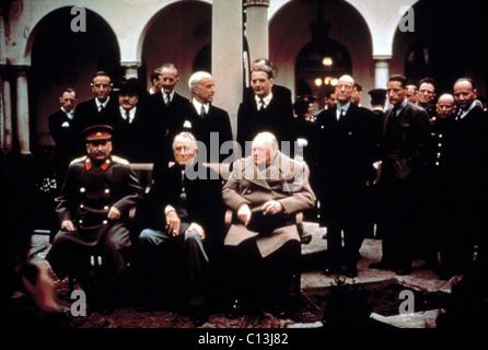 WWII: Josef Stalin, Franklin Delano Roosevelt und Winston Churchill, c. 1944. - Stockfoto