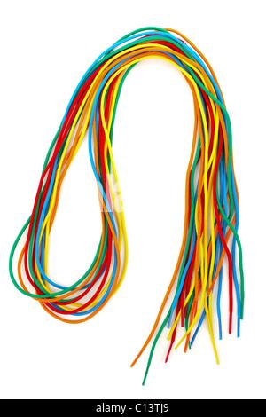 Haufen Von Bunten Schnürsenkel Einfädeln Stockfoto Bild 35120593